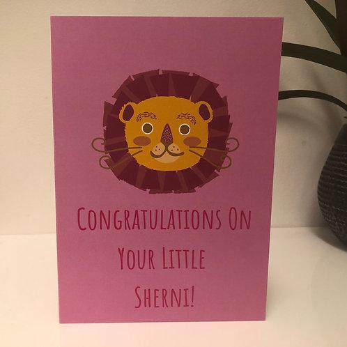 Congratulations on Your Little Sherni