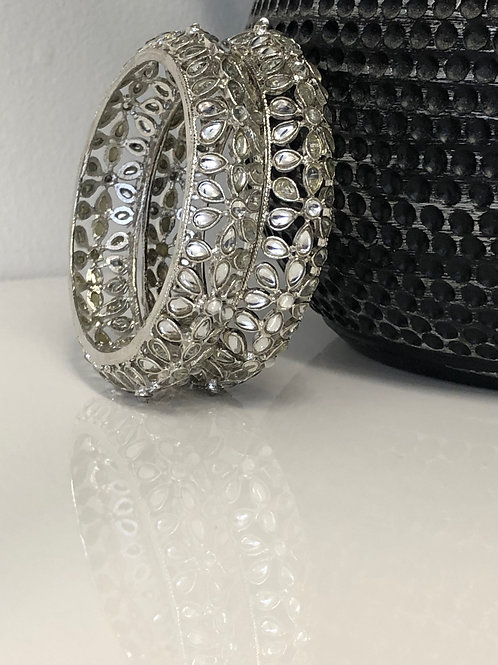 Antique Silver Kangans - Set of 2