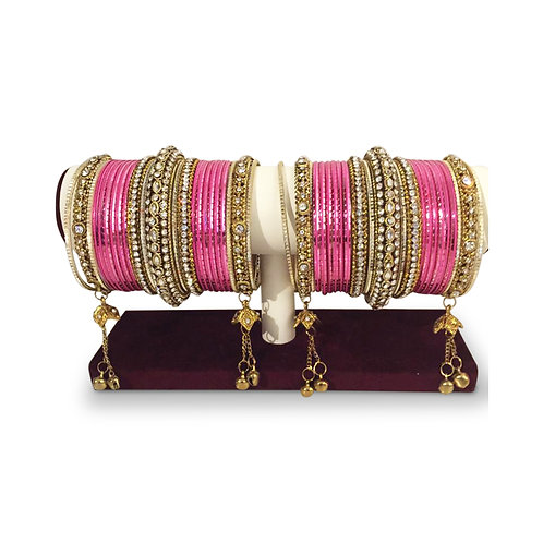 Pink Exclusive Bangles (Full Set)
