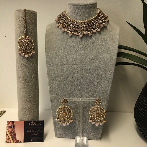 KAVYA Frosty Pink Necklace Set