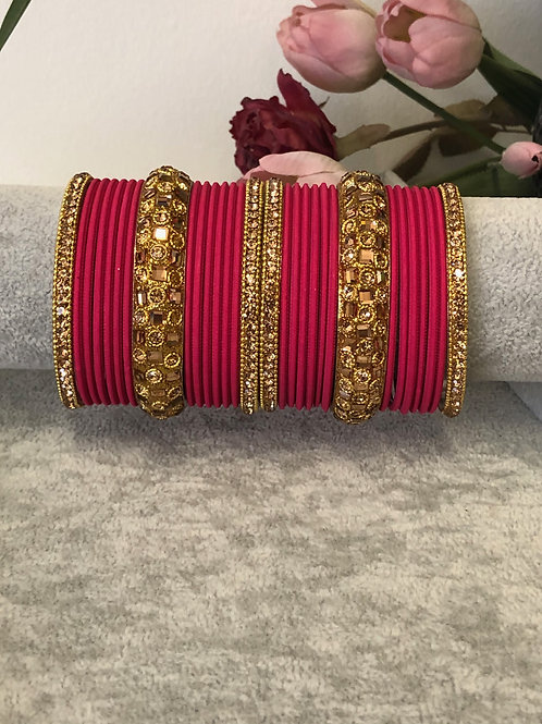 Hot Pink - KASHISH BANGLE SET