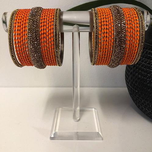 MISHKA Bangle Set - Orange