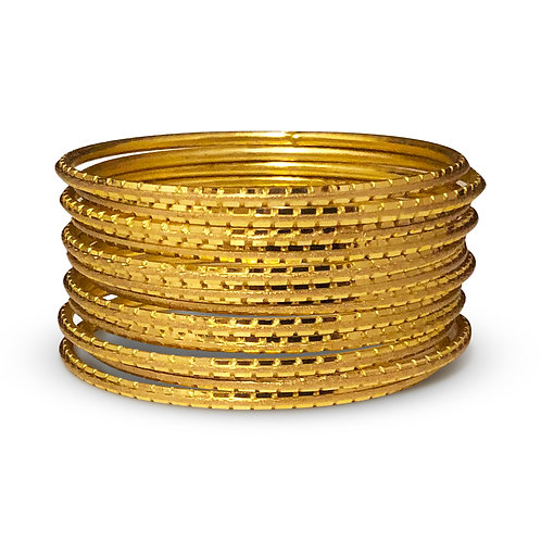 36 Gold Indo-Western Bangles