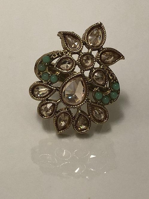 PISTA Statement Kundan Style Ring