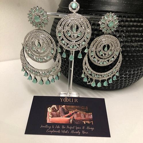 Sea Green Earring Tikka Set