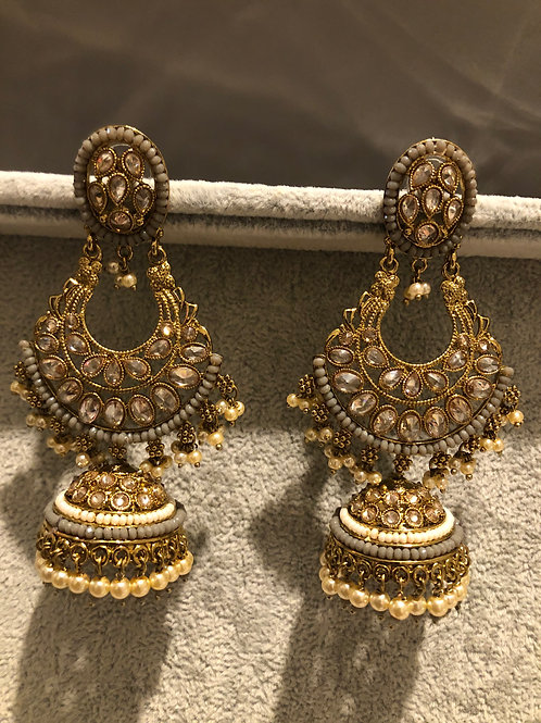 MISHKA Limited Edition Golden Earrings - Bollywood Inspired