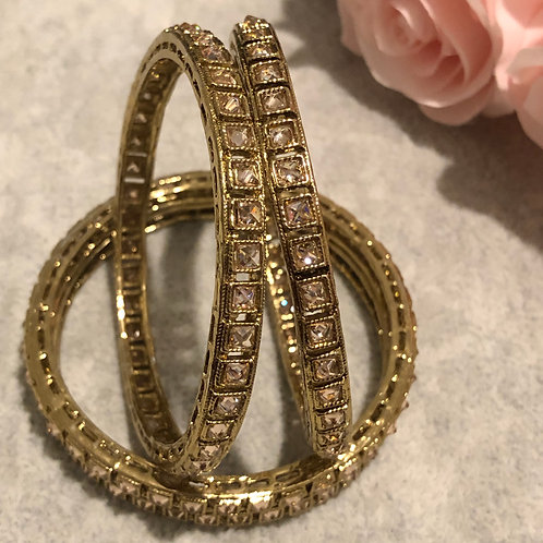 Antique Gold Kangans - Set of 4
