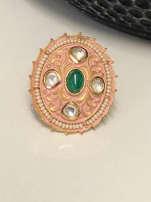 REGAL COLLECTION: Peach Princess Jasmine Ring