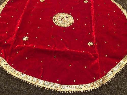 Marriage Accessories - Red Fabric Shagun Potli Rumaal Pouch
