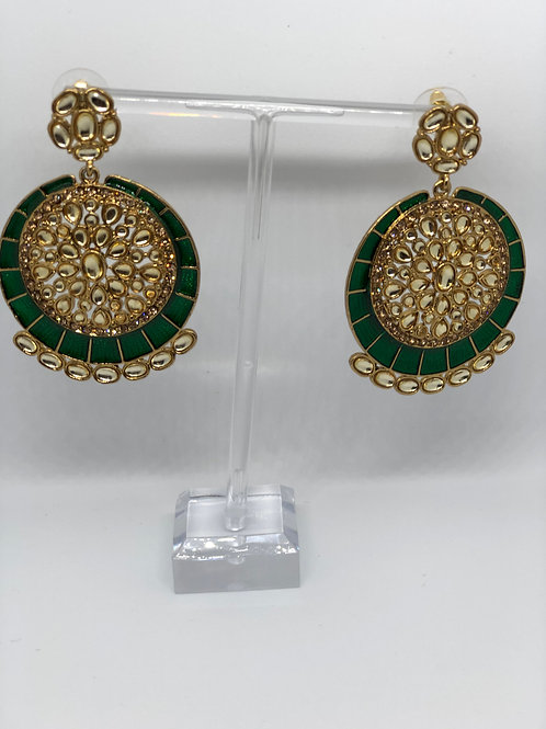 KAVYA Bottle Green Earrings