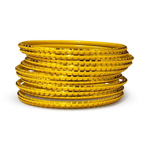 36 Yellow Indo-Western Bangles