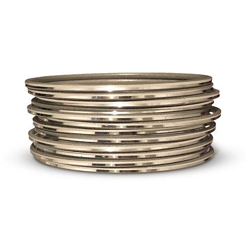 36 Silver Shiny Bangles