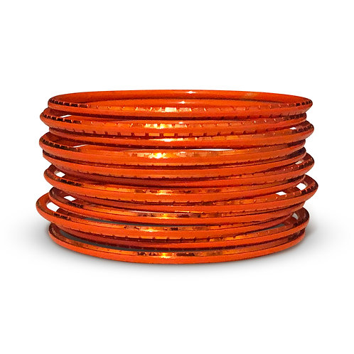 36 Orange Indo-Western Bangles