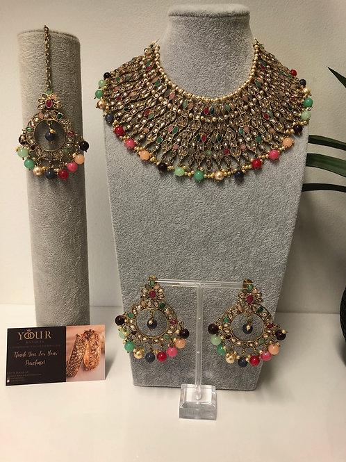 KHUSHI Multi Choker Necklace Set