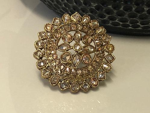 Antique Gold Adjustable Statement Ring