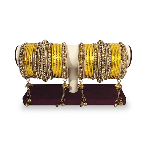 Yellow Exclusive Bangles (Full Set)