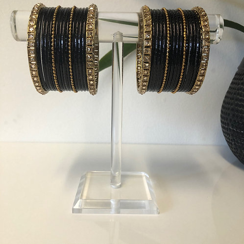 REGAL Midnight Black Bangle Set