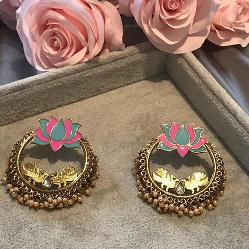 LOTUS Blue/Pink Earrings
