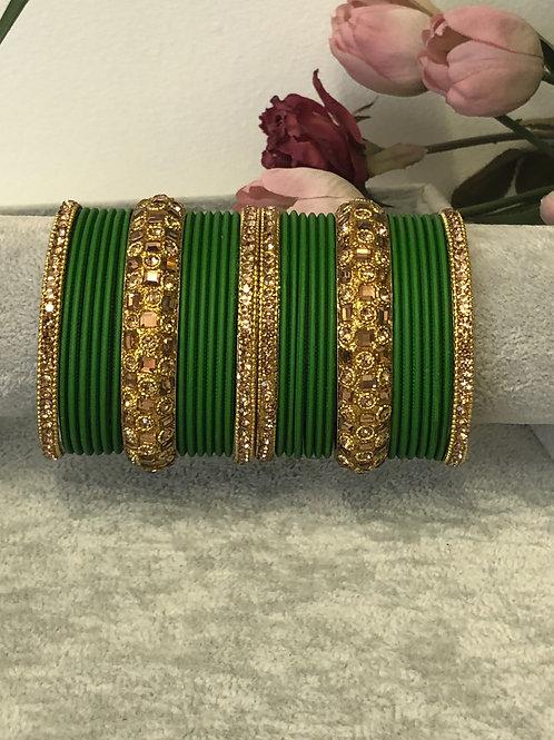 Emerald Green - KASHISH BANGLE SET