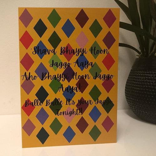 Jaggo Greetings Card