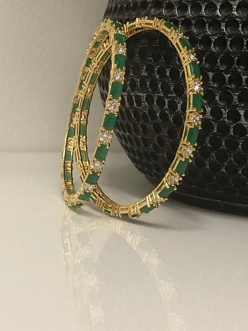 TANISHQ Emerald Green AD Kangans