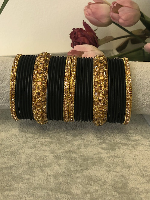 Midnight Black - KASHISH BANGLE SET