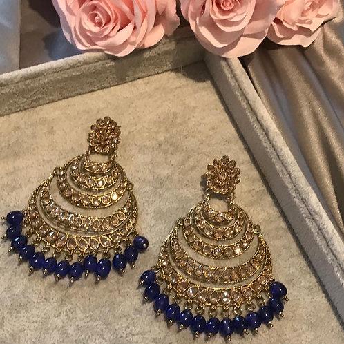 AMRITA Navy Earrings
