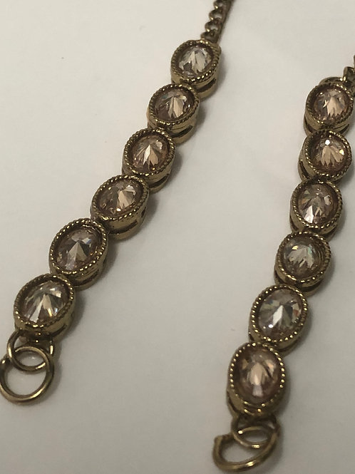 Antique Gold Studded Sahare