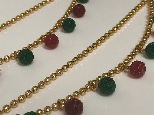 Emerald/Ruby Colour Sahare (Gold Plated)