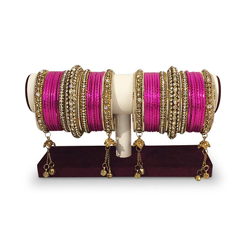 Fluorescent Pink Bangles (Full Set)