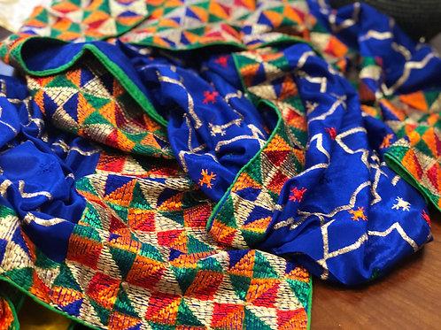 Royal Blue Phulkari Dupatta