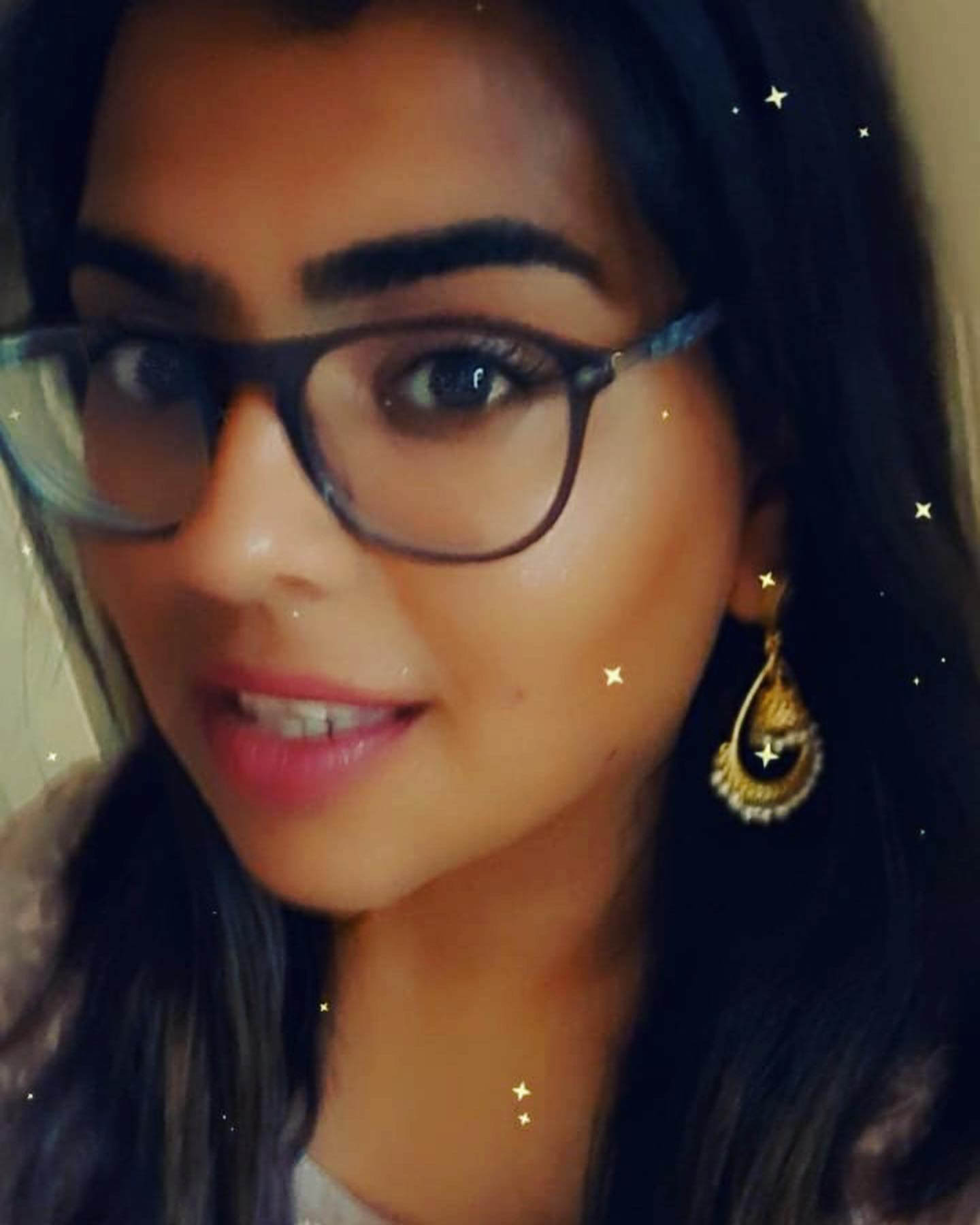 Beautiful customer Jyoti Dhanna, wearing our Amrapali jhumki earrings