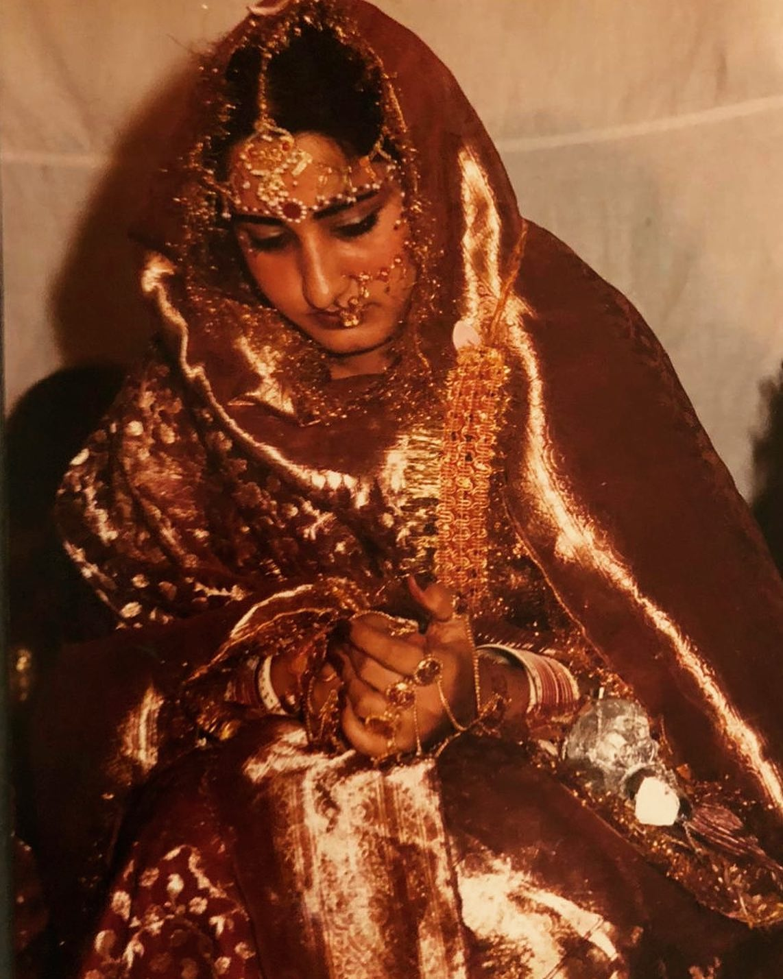 My Mum As A Bride During 1980's