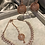 Thumbnail: TANISHQ Rose Gold Jhumki & Necklace Set