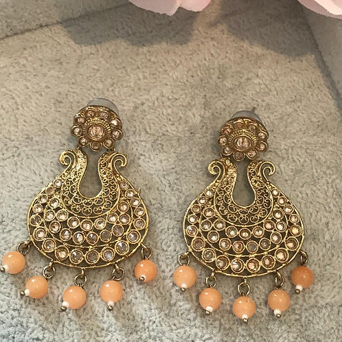 ISHITA Peach Earrings