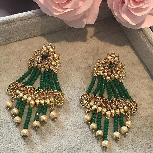 ARIA Emerald Green Earrings