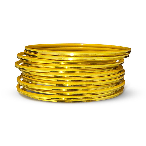 36 Yellow Shiny Bangles