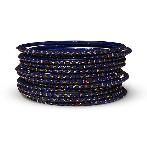 36 Navy Dotted Bangles