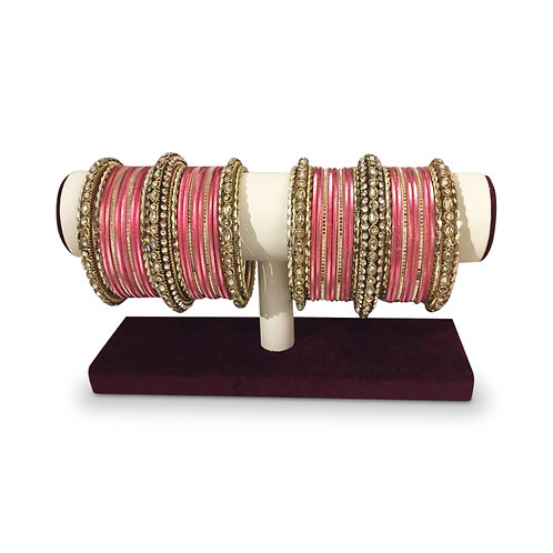 Exclusive Pink Bangles - Full Set (both hands)