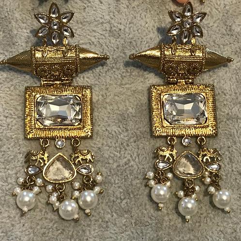 Clear ELEPHANT Earrings