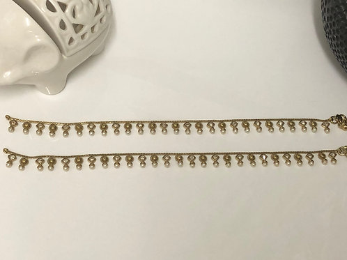 Gold Plated and Studded Payal / Anklet