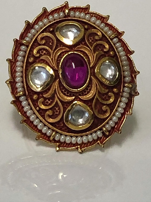 REGAL COLLECTION: Maroon Princess Jasmine Ring