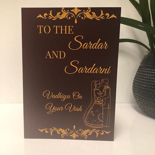 To The Sardar and Sardani - Wedding Greeting Card