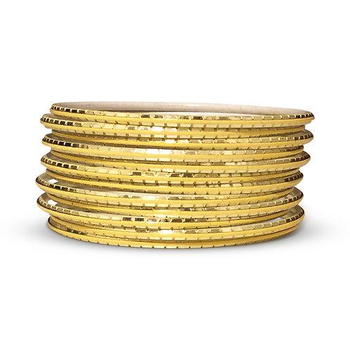 36 Gold Indo-Western Bangles