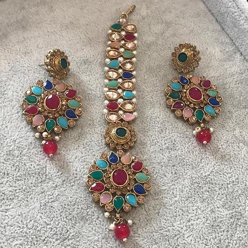 KHUSHI Earring & Tikka Set