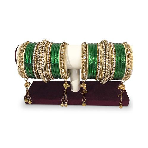 Emerald Green Bangles (Full Set)
