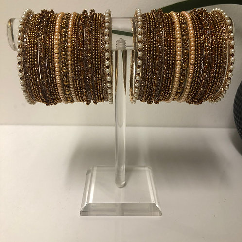 TANISHQ Golden Diva Bangle Set