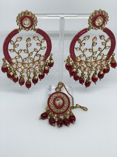 Earring & Maang Tikka Set