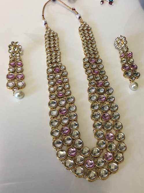 Limited Edition Pink/Clear Necklace Set