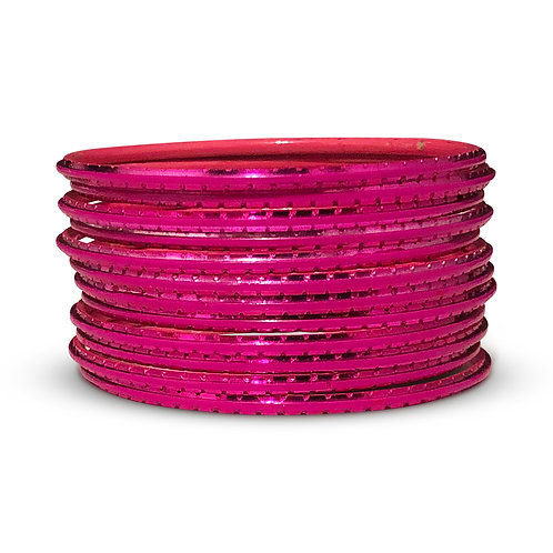 36 Fluorescent Pink Indo-Western Bangles